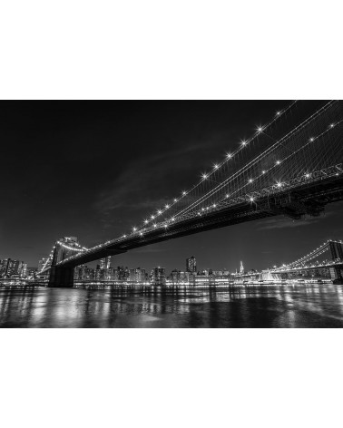 Brooklyn Bridge - photographie Nicolas Mazières  New-York depuis Brooklyn Park et à côté du Brooklyn Bridge