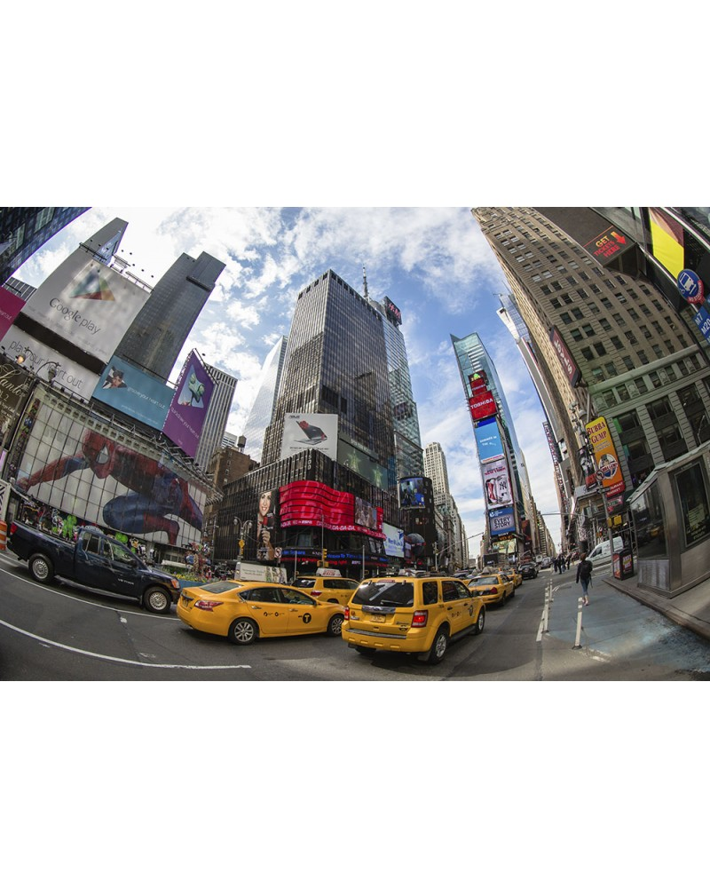 Time Square - photographie Nicolas Mazières  Time Square à New-York avec ses Yellows Cabs