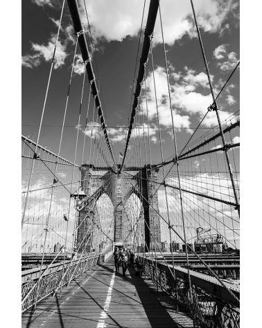 On the Brooklyn Bridge - photographie Nicolas Mazières  Ballade sur le Brooklyn Bridge