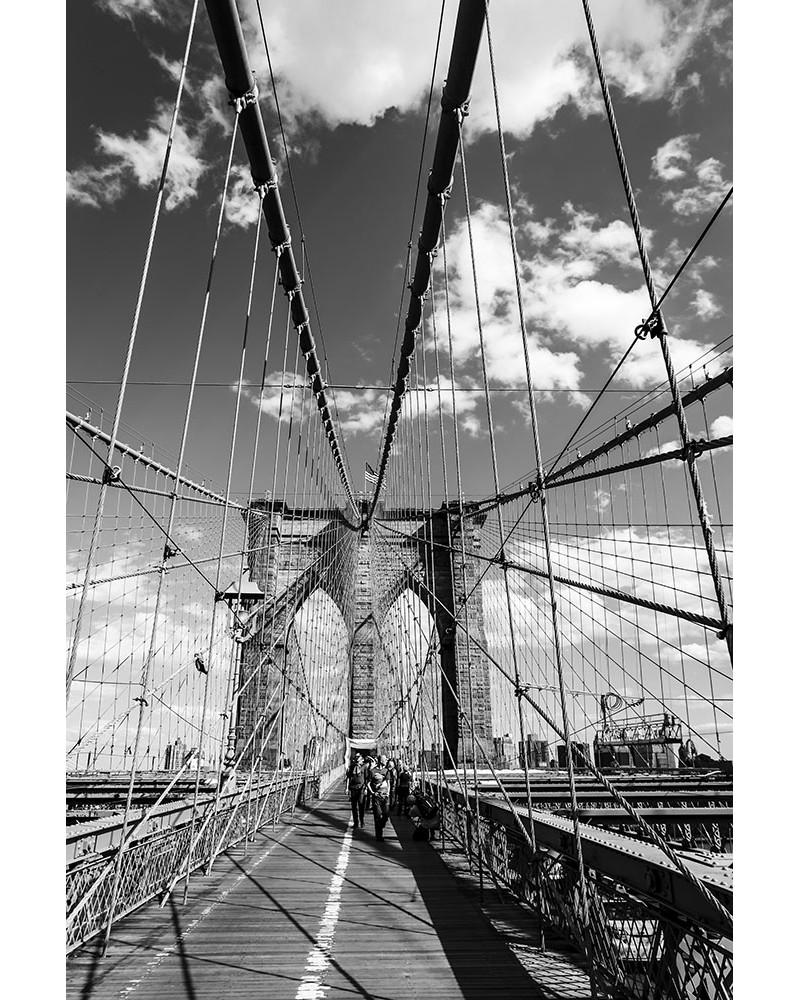 On the Brooklyn Bridge - photographie Nicolas Mazières  Ballade sur le Brooklyn Bridge