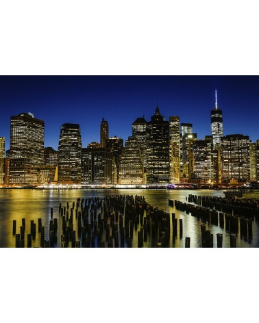 The Skyline at the blue hour - photographie Nicolas Mazières  La Skyline de New-York à l'heure bleue