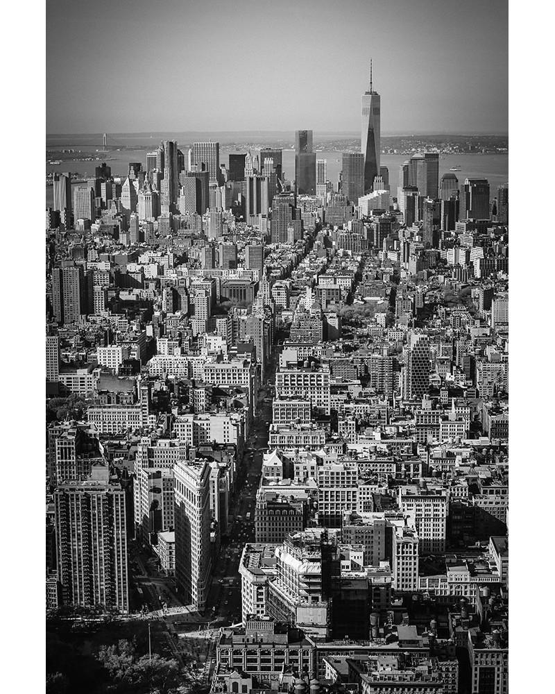 Manhattan from the Empire State Building - photographie Nicolas Mazières  Les tours et l'ile de Manhattan depuis les hauteurs de