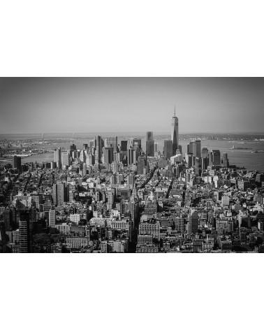 Manhattan and more - photographie Nicolas Mazières  Les tours, l'ile de Manhattan et la statue de la liberté depuis les hauteurs