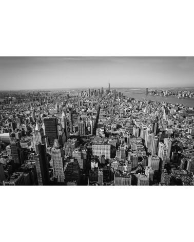 Isle of Manhattan - photographie Nicolas Mazières  Les tours, l'ile de Manhattan et la statue de la liberté depuis les hauteurs