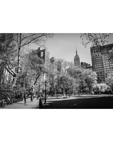 The Empire State Building from Madison Square Park - photographie Nicolas Mazières  La vue depuis Madison Square Park sur l'Empi