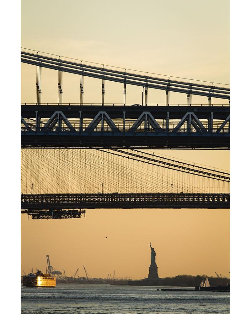 Sunset Freedom - photographie Nicolas Mazières  Une vue différente de la statue de la liberté au couchant