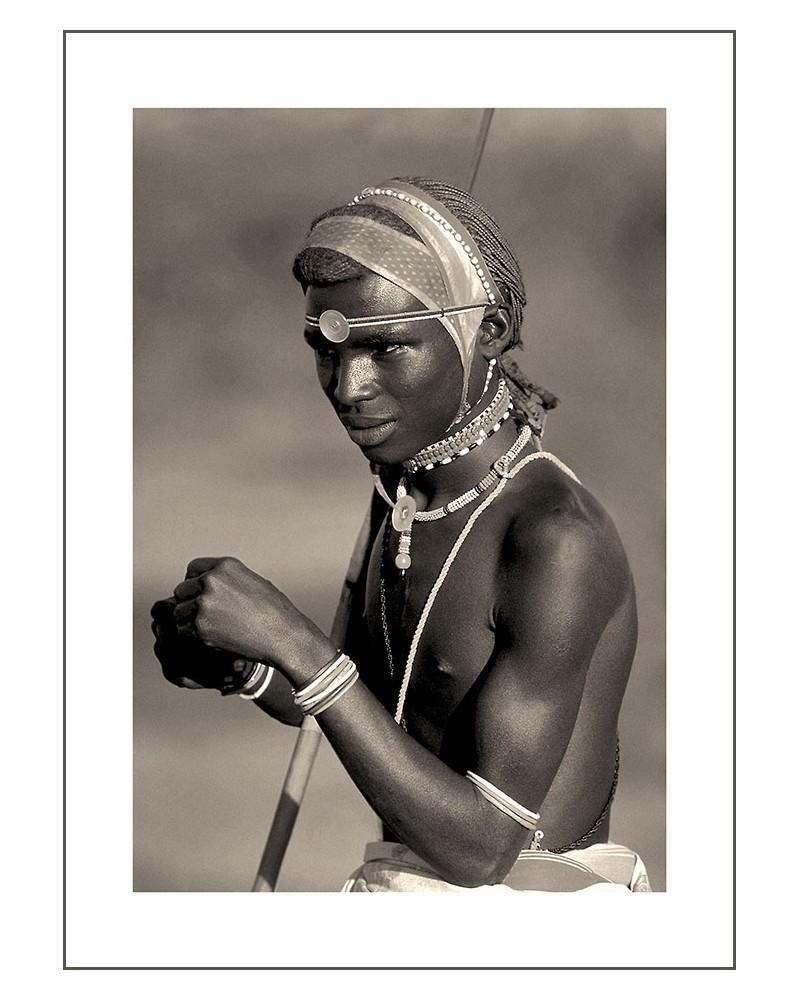 Young guerrier Samburu - photographie Jacques-Michel Coulandeau  Jeune guerrier Samburu