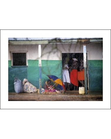 Samburu village - photographie Jacques-Michel Coulandeau  Scène de vie Samburu
