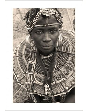 Pokot Sapana - photographie Jacques-Michel Coulandeau  Jeune femme Pokot