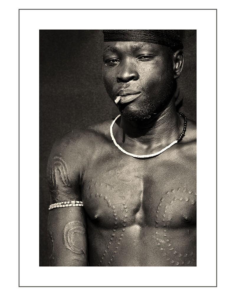 Guerrier Mursi - photographie Jacques-Michel Coulandeau  Jeune guerrier Mursi