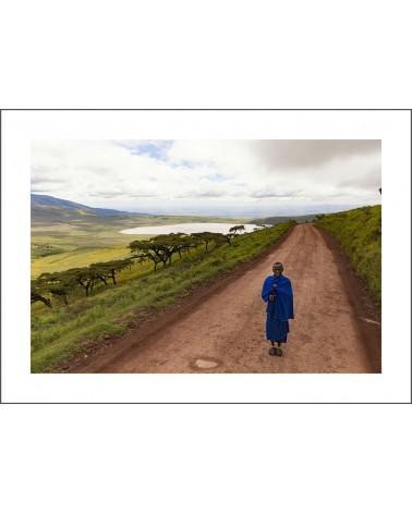 Massai solitude - photographie Jacques-Michel Coulandeau  Marathonien de l'espace