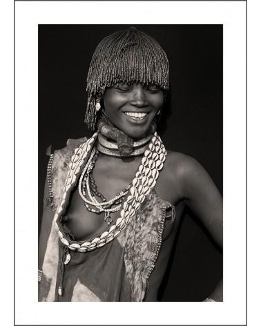 Gouena - photographie Jacques-Michel Coulandeau  Jeune femme de l'ethnie Hamer