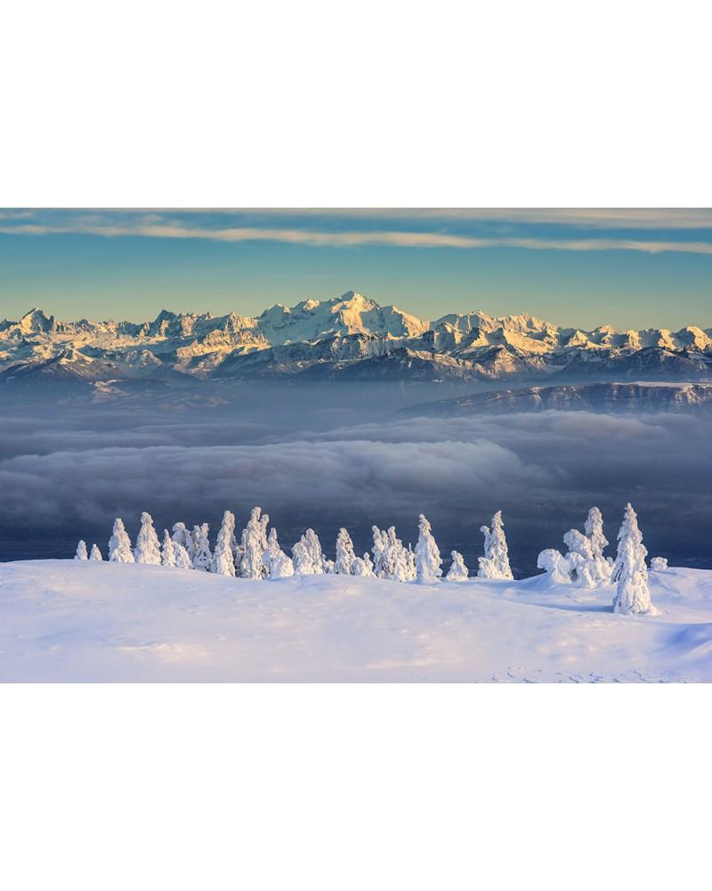 Parallèles - photographie Nicolas Gascard   Cimes jurassiennes et massif du Mont Blanc en parfaite harmonie.