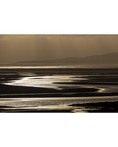 Jeux d'eau et de lumière - photographie Franck Fouquet  L'immensité de la plage de Luskentyre et ses jeux de lumière lorsque se