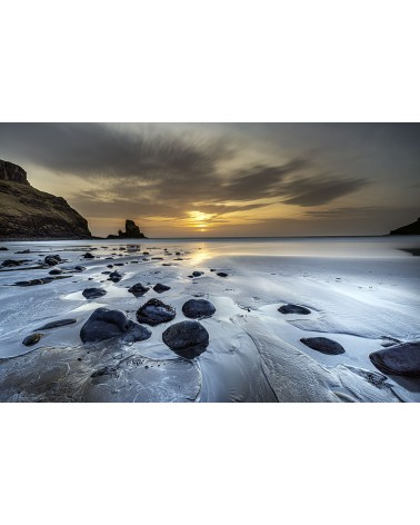 Couchant sur Talisker - photographie Franck Fouquet  Coucher de soleil sur la baie de Talisker